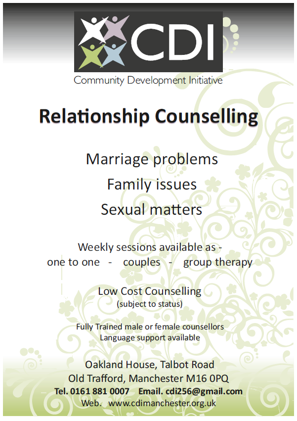 Community Development Initiative – Relationship Counselling