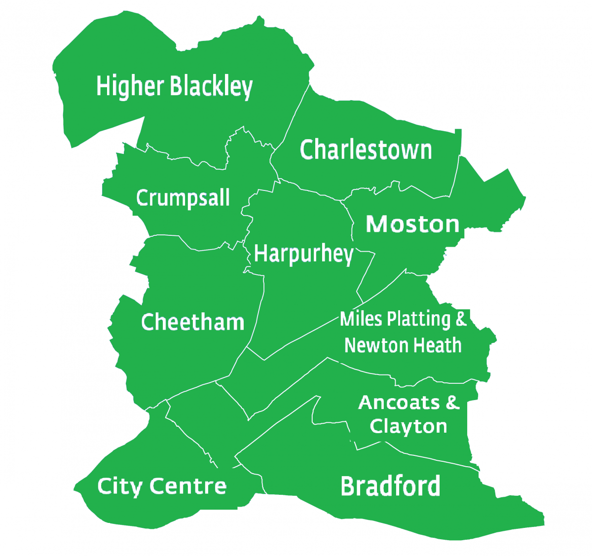 North Manchester map