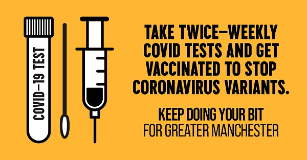 get tested twice a week