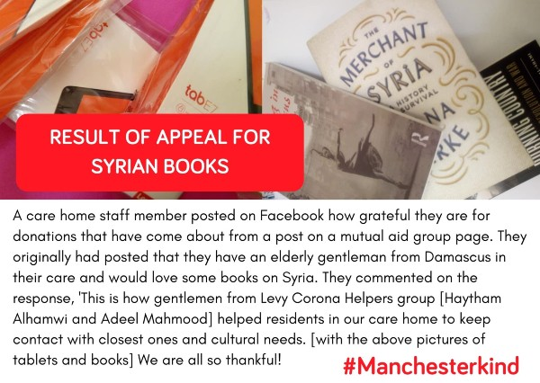 Syrian book donation