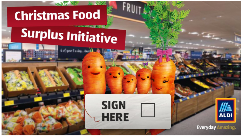 Aldi Christmas Food Surplus Initiative