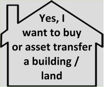 Yes, I want to buy or asset transfer a building / land