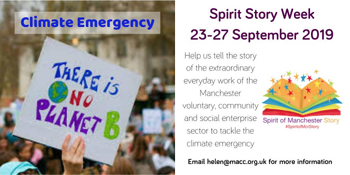 Spirit of Manchester Story Week 2019 - Climate emergency